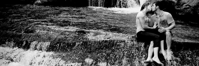 Brigette and Derek Waterfall